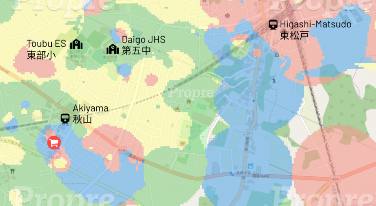Heat Map Analysis - Matsudo