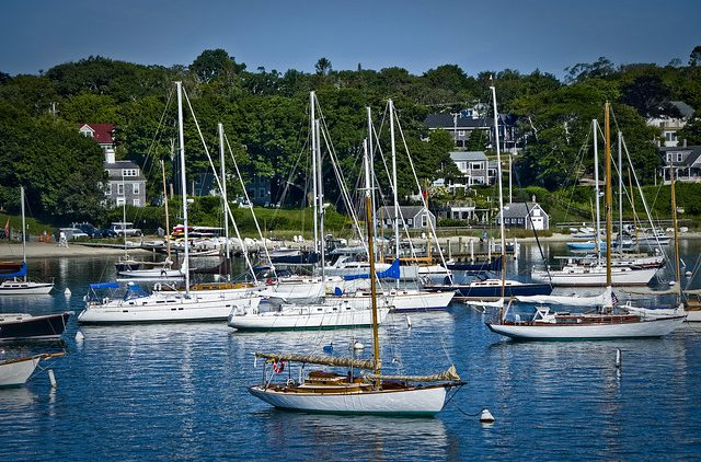 Vineyard Haven, Boats in the harbour