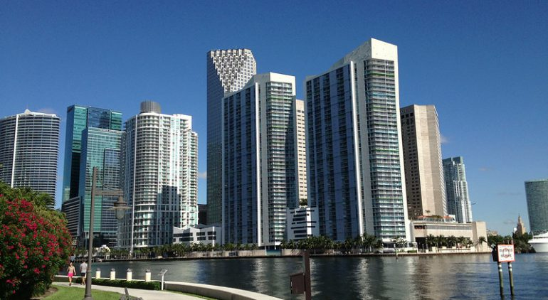 Downtown Miami From Brickell Key